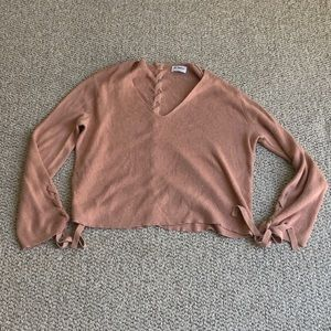 27 Miles Blush pink roped up sweater size small